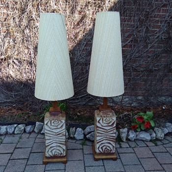 Mid century modern Germany pottery lamps - Pottery
