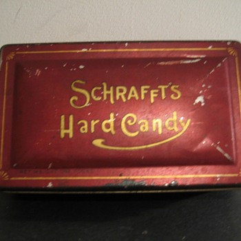Schrafft's Chocolates Pressed Glass Dish-Part 3  - Glassware