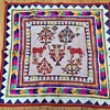 "Beaded & fabric Wall  tapestry  31""x31"" Indian ?"