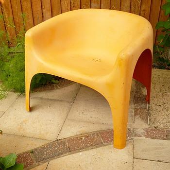 my 1970s fibreglass garden chair