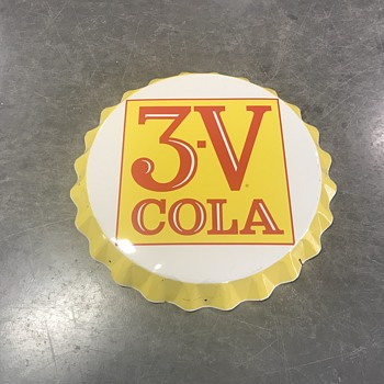 3V cola bottle cap sign  - Signs