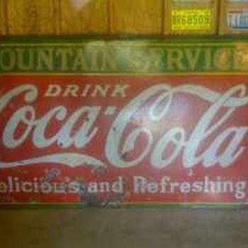 VIntage coca cola sign - Signs
