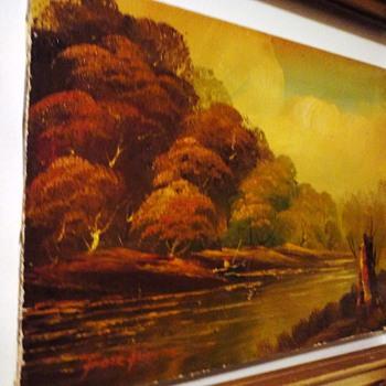 River Bank Oil on Canvas - Fine Art