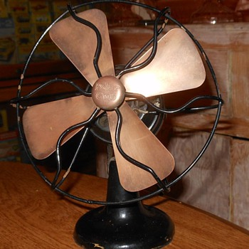 """Polar Cub Type G 6"""" Electric Fan Early 1920s Brass Blades - Tools and Hardware"""