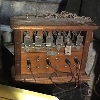 T.W.  Ness table top switch board - Telephones