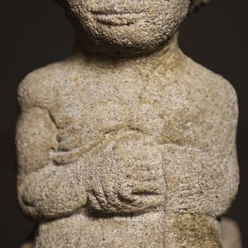 Carved statue of a Sumerian King - Fine Art