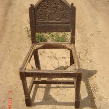 English? Chair with Hand Carved Back - Have 4 - Furniture