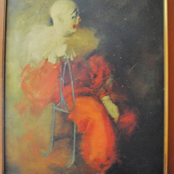 Intermission by RUNCI/ there is a tag on the frame saying Signature Art Co. - Folk Art