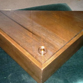 Wooden Box with folded Flag from   The White House  - Military and Wartime