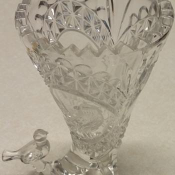 Bird Cornucopia Vase - HOFBAUER? - Glassware