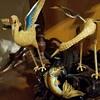 Vintage fine cloisonne cranes and koi fish