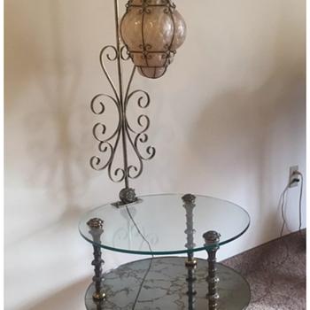 Murano Globe End Table Lamp - Art Glass