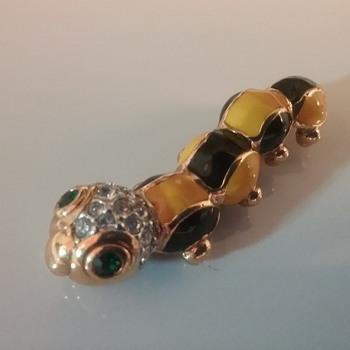 Attwood and Sawyer caterpillar brooch  - Animals