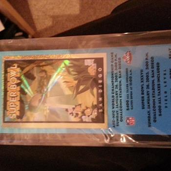 NFL Superbowl 2003 ticket.