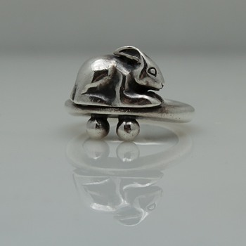 Sterling Silver Modernist Rabbit Ring - Fine Jewelry