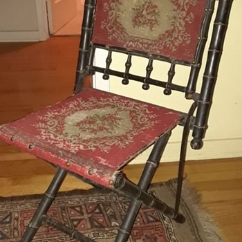 folding chairs--civil war officer? Hunzinger? - Furniture