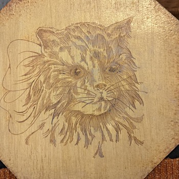 Ungar Craft wood burned lithograph