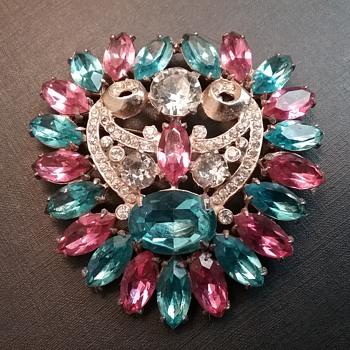 Wiesner NY brooch & my jewelry cabinet  - Costume Jewelry