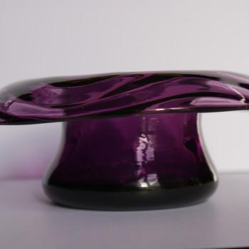 Webb Amethyst Posy Bowl - Art Glass