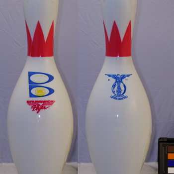 Brunswick Flyer Bowling Pin, Crown and Ring Neckbands - Sporting Goods