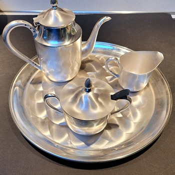 Japanese Machine Turned Serving Set - Asian