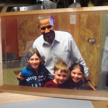 Barack Obama photograph serving tray - Photographs