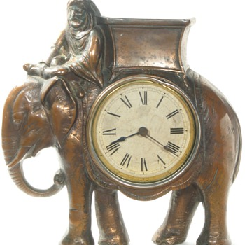 Elephant Cast Front Clock, ca. 1890 - 1895 - Clocks