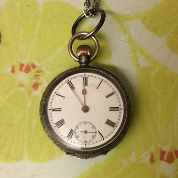 Omega 935 fine silver ladies pocket watch Swiss - Pocket Watches
