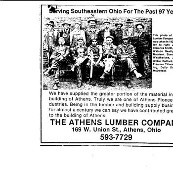 Athens Ohio Lumber Company - Paper