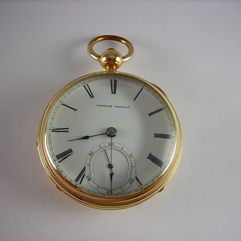 George W. Ladd Gold Filled Drum Case/Waltham Pocket Watch