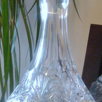 Older Pinwheel Decanter/Liquor Holder