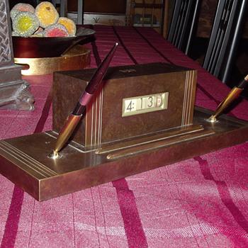 "Smith Metal Arts, ""Bronze Duo"" Nemechron and Cigarette Case, 1945 -1955"