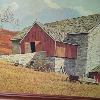 Eric Sloane photo of a painting printed on masonite board.