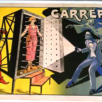 "Original 1920 ""Carrere"" Stone Lithograph Magic Poster - Posters and Prints"