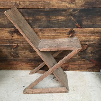 Primitive wooden seat - Furniture