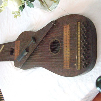 Early 1900's Zither 3 in one Mandolin/Guitar- may have beginners music booklet also