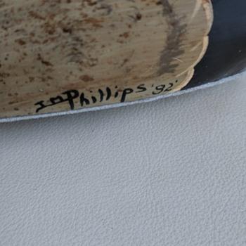 Decorative wooden duck sign JM Phillips '82 - Animals