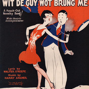 "Late 1920s Sheet Music ""I'M GONNA DANCE WIT DE GUY WOT BRUNG ME""! (THE GUM CHEWERS SONG) - Music Memorabilia"