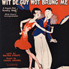 """Late 1920s Sheet Music """"I'M GONNA DANCE WIT DE GUY WOT BRUNG ME""""! (THE GUM CHEWERS SONG)"""