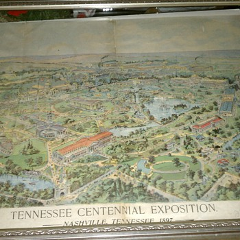 Vintage Newspaper Ad for Tennessee Centennial - Paper