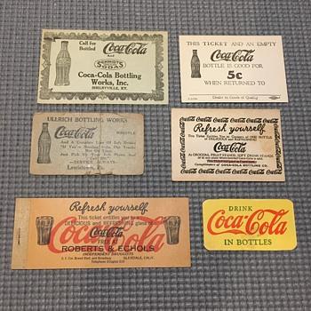 1920's & 30's Coca-Cola Coupons 1 - Coca-Cola