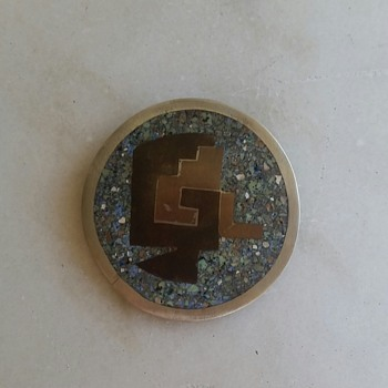 1970's? mixed metal pin/pendant from Mexico - Fine Jewelry