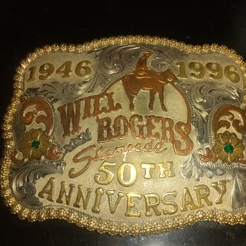 Collectors Belt Buckle, 1946-1996 Will Rogers 50th Anniversary (1-300) #147 Frontier  - Accessories