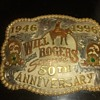 Collectors Belt Buckle, 1946-1996 Will Rogers 50th Anniversary (1-300) #147 Frontier