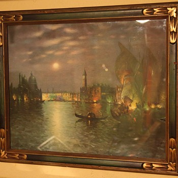 Victorian Print of Venice by Moonlight