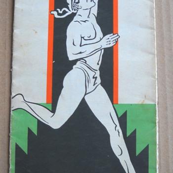 40's Marathon Oil Co. Running Man Oklahoma Map - Paper