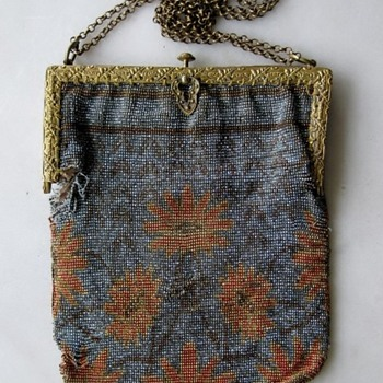 Early 20th century French steel cut beaded bag - Bags