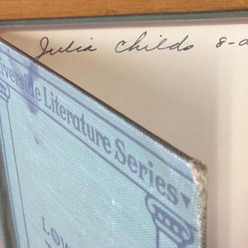 Julia Child signed poetry book - Books