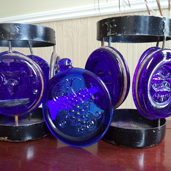 Holders? for a Bottle or/ Candle and a Suncatcher - Art Glass