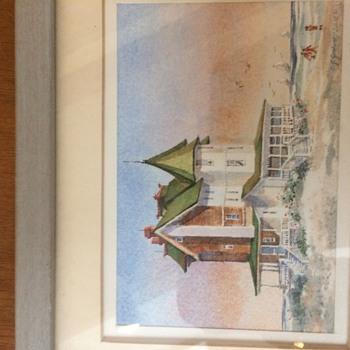 Charles J. Gerhart watercolor - Fine Art